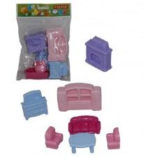 Набор мебели для кукол №2 (7 элементов) (в пакете)