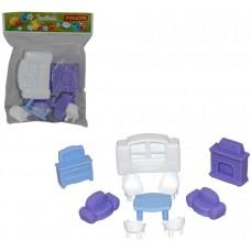 Набор мебели для кукол №3 (10 элементов) (в пакете