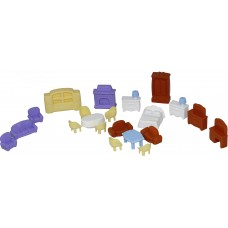 Набор мебели для кукол №5 (21 элемент) (в пакете)