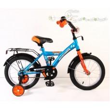 "Велосипед NOVATRACK 14"", ASTRA синий, защита А-тип"