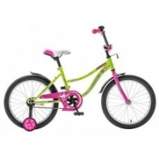 "Велосипед NOVATRACK 16"", NEPTUNE салатовый, защита"