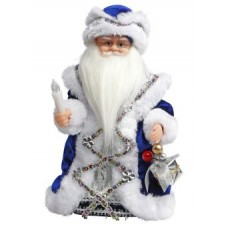 """Дед Мороз в синем 30 см, мех., муз., песня """"В лесу"""