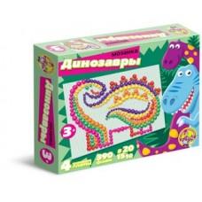 Мозаика Динозавры d10,15,20/6 цв/390 эл/4 поля арт