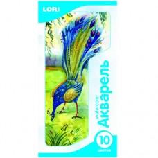 Ак-003 Акварель, 10 цветов, б/к