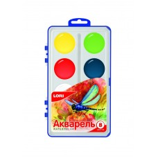 Акв-002 Акварельная краска в пластм уп (большая) 8