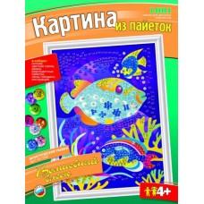 """Ап-002 Картина из пайеток """"Экзотические рыбки"""""""