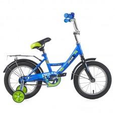 """Велосипед NOVATRACK 14"""", URBAN, синий, тормоз нож."""