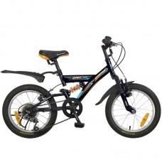 """Велосипед NOVATRACK 16"""", DART, 5-скор., черный, Mi"""