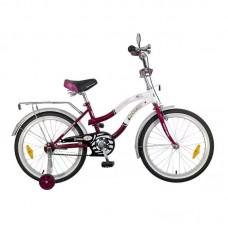 """Велосипед NOVATRACK 16"""",Z, Зебра, бордово/белый,то"""