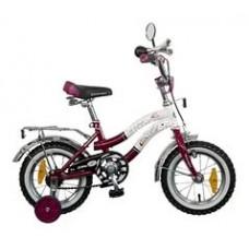 """Велосипед NOVATRACK 12"""",Z, Зебра, бордово/белый,то"""