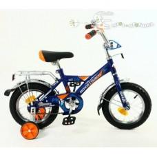 "Велосипед NOVATRACK 12"" TWIST, синий, тормоз нож, крылья цвет, багажник хром. #117055"