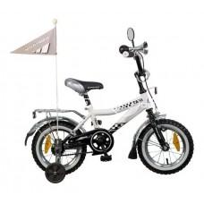 "Велосипед NOVATRACK 12"",R, Такси, черн/бел,тормоз"