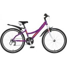 """Велосипед NOVATRACK 24"""", Lady, фиолетовый, рама ал"""