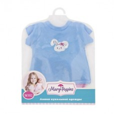 Одежда для куклы 38-43см, футболка и шорты Зайка