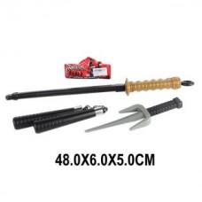 Набор оружия Ниндзя, 3 предмета, нунчаки, сай, меч