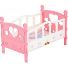 Кроватка сборная для кукол №2 (5 элементов) (в пакете)