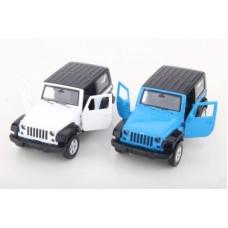 Машина мет. 1:42 Jeep Wrangler, откр.двери, цвета в ассорт.,12см
