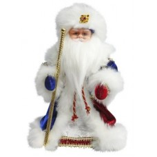 "Дед Мороз Боярский 30 см, мех., муз., песня ""В лес"