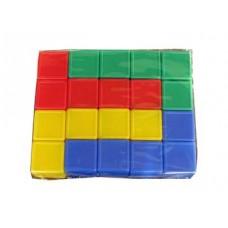 Выдувка. Кубики с бортиком 20 эл (5 см) арт.00925