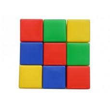 Выдувка. Набор кубиков 9 эл (8 см) арт.00900