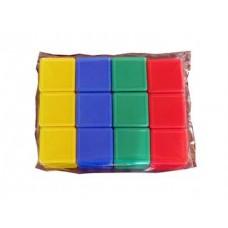 Выдувка. Кубики с бортиком 12 эл (5 см) арт.00899