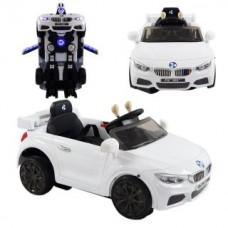 Автомобиль-трансформер эл., бел., свет, звук, акку