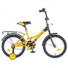 """Велосипед NOVATRACK 16"""", FR-10, жёлтый, тормоз  но"""