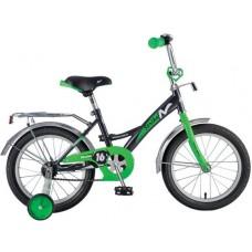 """Велосипед NOVATRACK 16"""", STRIKE, черный-зелёный, т"""