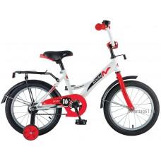 """Велосипед NOVATRACK 16"""", STRIKE, белый-красный, то"""