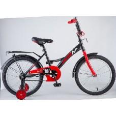 """Велосипед NOVATRACK 18"""", STRIKE, черный-красный, т"""