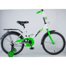 "Велосипед NOVATRACK 18"", STRIKE, белый-зелёный, то"