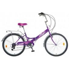 """Велосипед NOVATRACK 24"""" складной, фиолет, FS, 6ско"""