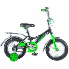 """Велосипед NOVATRACK 12"""", STRIKE, чёрный-зелёный, т"""
