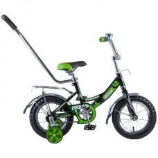 """Велосипед NOVATRACK 12"""", URBAN, чёрный, тормоз нож"""