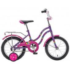 """Велосипед NOVATRACK 14"""",TETRIS,фиолетовый,тормоз нож.,крылья цвет,багажник хромир.,"""