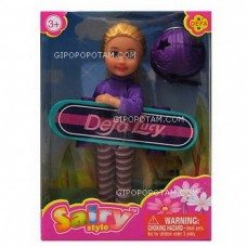 Кукла Defa Sairy Мой скейтборд, 15 см,аксесс.2 предм., в ассорт.