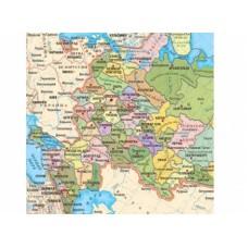 Карта-пазл. СУБЪЕКТЫ РОССИЙСКОЙ ФЕДЕРАЦИИ 42х25 см