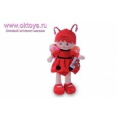 Кукла пчелка в рыжем платье муз.-1цв.(48/4)