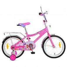 """Велосипед 16"""", Pet Shop, розовый/сиреневый, тормоз"""