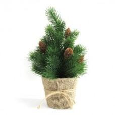 Елочка декор. 30,5 см, зелен., шишки