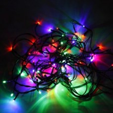 Гирлянда электрическая 100LED 5мм, Портьера цветно