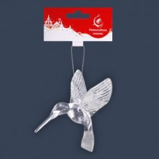Ел. укр. Птица 11,5*9см,  серебро.
