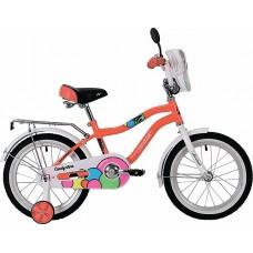 """Велосипед NOVATRACK 16"""", CANDY, коралловый, полная"""