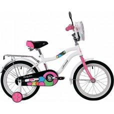 """Велосипед NOVATRACK 16"""", CANDY, белый, полная защи"""