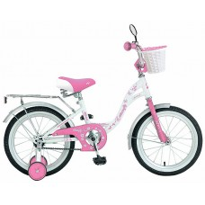"Велосипед NOVATRACK 16"" BUTTERFLY, белый-розовый,"