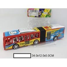 Автобус инерционный в пакете, 34х12х5 см.