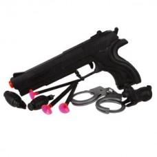 Игр.набор Полиция, пистолет, стрелы с присосками 3