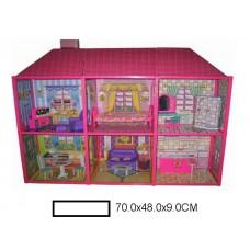Кукольный домик Вилла  с аксс., в кор. 70х48х9 см