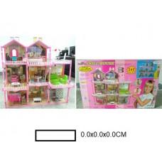 Кукольный домик Вилла  с аксс., в кор. 80х8,5х52 см