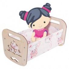 "Кроватка деревянная для кукол ""Катюша"" (44х24х24 с"